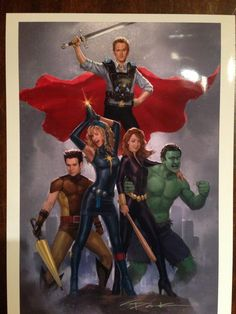 So Thor is gay. Artist: Andy Park – So Thor is gay. Artist: Andy Park So Thor is gay. How I Met Your Mother, Thor, Cobie Smulders, Funny Drawings, Cartoon Drawings, Jack Kirby, Geeks, Two And Half Men, Andy Park