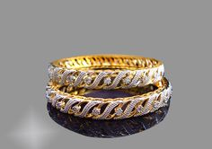 Handmade Zircon studded bangles for women, Elegant, Light Weighted Pair of Bangles. Daphne Zircon Bangles for women. Use the following Daphne Bangle Size Estimation Chart to choose a correct bangle size.