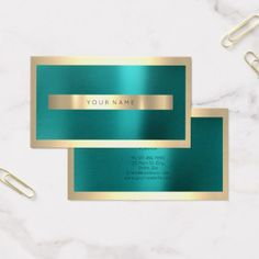 Shop Champaigne Gold Frame Metallic Teal Green Minimal Business Card created by luxury_luxury. Minimal Business Card, Elegant Business Cards, Professional Business Cards, Business Card Design, Teal Green, Green And Gold, Luxury Gifts, Place Card Holders, Metallic