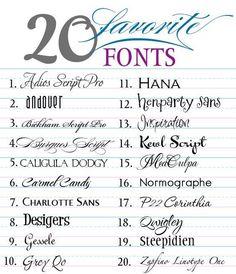 """20 """"favorite"""" fonts via Melange Mck Designs Fancy Fonts, Cool Fonts, Simple Fonts, Creative Fonts, Typographie Fonts, Tattoo Tribal, Web Design, Logo Design, Vector Design"""