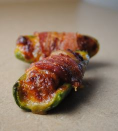 Bacon Wrapped Stuffed Jalapenos  Pop them in the oven!