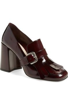 PRADA Kiltie Fringe Pump (Women). #prada #shoes #pumps
