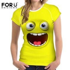 >> Click to Buy << FORUDESIGNS Summer T shirt Women Tops Tees Short Sleeve Cotton Big Eyes Emotion Print Tshirt Funny T-shirt Woman Clothes #Affiliate