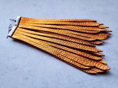 Orange fringe earrings orange tassel earrings long orange | Etsy