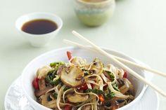 Simon Rimmer's cabbage and sticky mushroom stir-fry recipe.