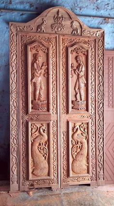 Wooden Front Door Design, Wood Bed Design, Double Door Design, Wooden Front Doors, Pooja Room Door Design, Bedroom False Ceiling Design, House, Art, Entry Doors