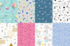 Geometric pattern memphis style by Fay_Francevna on @creativemarket
