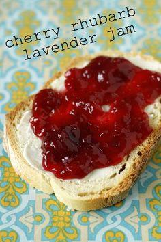 Cherry rhubarb lavender jam