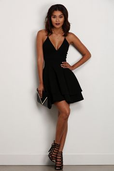 Black Late Night Fantasy Dress | windsor