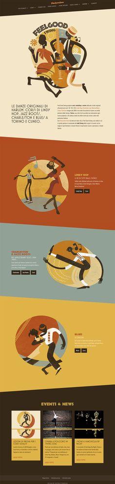 Feel Good Swing Website. #web design #illustration #vintage #retro