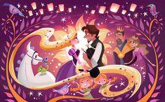 Disney Princess Art, Disney Rapunzel, Arte Disney, Disney Fan Art, Disney Magic, Tangled Rapunzel, Tangled Movie, Princess Merida, Tangled Pictures