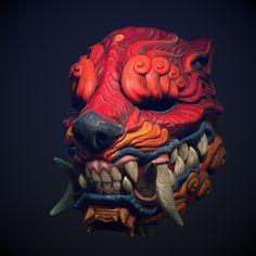 ArtStation - Orcish Mask, Wan Chao