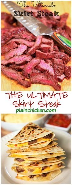 The Ultimate Skirt Steak - a  little sweet, a little heat, a whole lot of delicious! Skirt steak marinated in hot sauce, Italian dressing, onion, garlic, brown sugar and steak marinade.Let it marinate overnight for maximum flavor. Great on its own on in quesadillas or fajitas. We always make extra for leftovers!