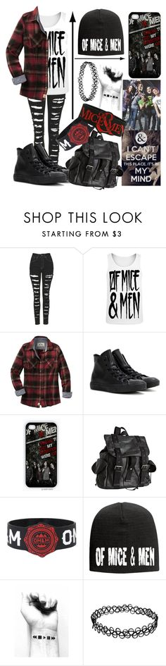 """""""Of Mice And Men"""" by musiclover135 ❤ liked on Polyvore featuring The Ragged Priest, Converse, Joe's Jeans, OTTO and ofmiceandmen"""