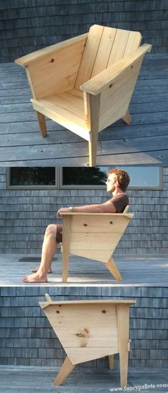 New And Stylish Pallet Chair Ideas Pallet Furniture Chair ideas Pallet Stylish Wood Pallet Bar, Pallet Patio, Wood Pallets, Pallet Chairs, New Furniture, Pallet Furniture, Furniture Plans, Furniture Design, Luxury Furniture
