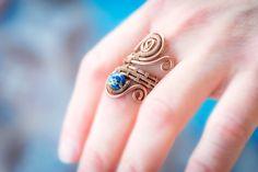 FREE SHIPPING JEWELRY natural Blue Jasper by Bellamagicaljewelry