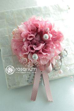 rosarium ダリアのコサージュ