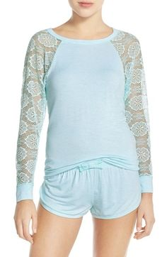 13e170a546810b Betsey Johnson Lace Sleeve Short Pajamas available at  Nordstrom Pajama  Shorts