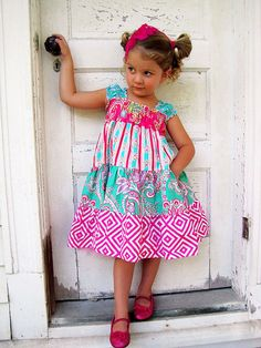 42 Trendy Sewing Clothes Diy Dress Little Girls Little Girl Outfits, Little Girl Dresses, Kids Outfits, Girls Dresses, Little Girl Dress Patterns, Sewing Patterns Girls, Sewing Kids Clothes, Diy Clothes, Dress Clothes