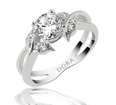 Romantic engagement ring for a romantic proposal from Dora Rings...