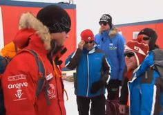 Even in Antarctica, our Viking God is wearing a Hammarby hat. Oh, and there's Prince Harry too.