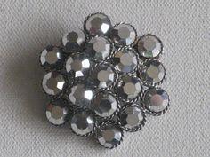 Silvertone Flower Style Brooch Pin Aurora by RicksVintagePlus, $26.00