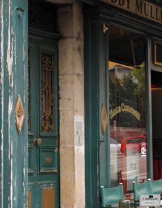 Simply love the colour and patina of the flaking paint on this building which I spotted in Le Puy-en-Velay, France.