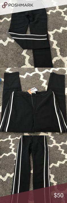 Black fashion dress pants Black dressy pants, straight leg, a fashion piece for sure, NWT Pants Straight Leg