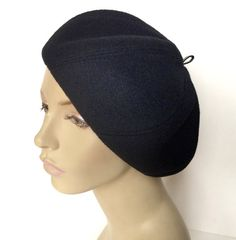 Swirl Beret Hat Cloche Large Black Blue Brown Beige Cashmere Harris Tweed  Wool Leather Suede Any Fabric Any Size CUSTOM MADE Handmade 04613991fdd8