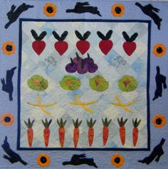 #quilts #applique Veggie Patch