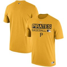 Men s Pittsburgh Pirates Nike Gold Authentic Collection Legend Team Issue  Performance T-Shirt Nike Gold 55647de92