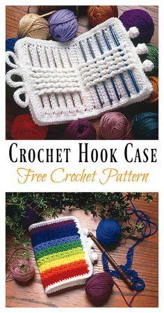 Crochet Hook Case Free Crochet Pattern #crochet #freepattern #crochetbag