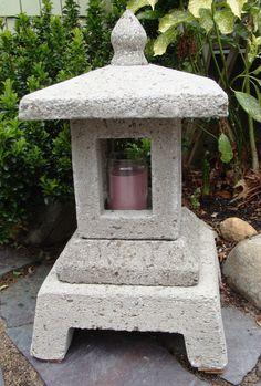 Small Japanese Lantern made from Hypertufa for Garden Art #530