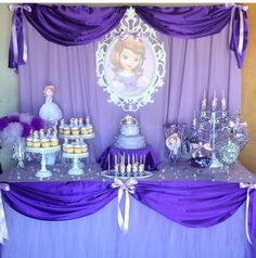 Photo of Aurora in cameo Princess Sofia Birthday, Sofia The First Birthday Party, First Birthday Party Decorations, Second Birthday Ideas, 3rd Birthday Parties, Fete Emma, Princesa Sophia, Prince Party, Deco Table