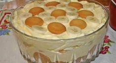 Ingredience 1 bal. dětské piškoty 5 ks banán 250 g mascarpone 1 šálek mléko 1 konzerva kondenzované mléko (salko – nevařené) 340 ml smetana ke šlehání 1 bal. vanilkový pudink Crème Olé bez vaření 1 lžička vanilková esence Postup přípravy Připravte si formu nebo obyčejnou mísu Vyskládáme pyškoty Poklademe na ně banány nakrájené na kolečka […] Banana Pudding From Scratch, Old Fashioned Banana Pudding, Banana Cream Pudding, Homemade Banana Pudding, Original Banana Pudding Recipe, Homemade Chocolate, Just Desserts, Delicious Desserts, Dessert Recipes