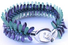 Lovely effect by using different shaped beads.  Dagger bracelet by Jamie North