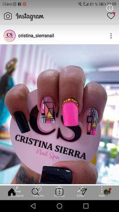 Rose Nail Art, Rose Nails, Pink Nails, Cute Simple Nails, Pretty Nails, Quilted Nails, Rainbow Nails, Long Acrylic Nails, Green Nails