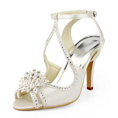 Silk Stiletto Heel Sandals With Rhinestone Wedding Shoes (More Colors Available)  USD $ 79.19 |Fashion Design Shoes|