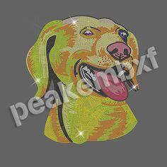 Lovely Dog Animal Hot Fix Motif Rhinestone Heat Transfers Wholesale 30 pcs