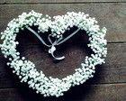 Porta Alianças Coração Perfeito Florido