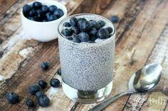 Blueberry chia pudding