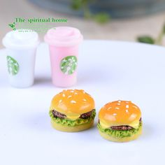 Cheap food plate decoration, Buy Quality food transport directly from China food mix Suppliers: 2pcs Resin Cameo Cabochon Dollhouse Ornament Hamburger Miniature Micro Landscape Figure Flatback Resins Food Cabochon D