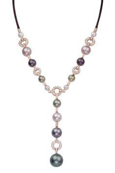 Collar de perlas de Tahití, oro rosa y diamantes, de la colección Himalia de Cartier