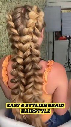 Hairstyle For Girls Video, Hairdo For Long Hair, Cool Braid Hairstyles, Haircuts For Fine Hair, Girl Haircuts, Hair Tips Video, Hair Curling Tips, Cabello Hair, Bridal Hair Inspiration