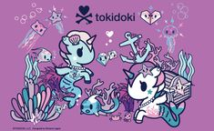Hey Guys The next theme is Tokidoki! If you don't know what Tokidoki is… Unicorns And Mermaids, Real Mermaids, Cute Wallpaper Backgrounds, Cute Wallpapers, Unicorn Art, Thug Unicorn, Unicorn Images, Hello Kitty Wallpaper, Italian Artist