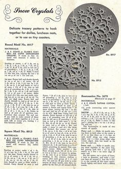 1940's tatting motifs by blueprairie, via Flickr
