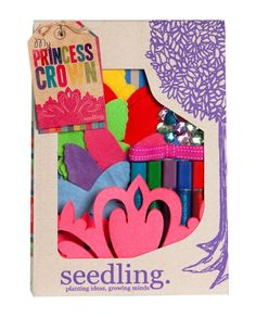 Seedling My Princess Crown Craft Kit | Create your own princess crown for hours of princess play! #Seedling #kidsgiftsau #kidscraftau #princesscraft
