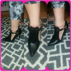 Ponty Heels Gorgeous black heels new never wore, they will look cute with ANY outfit. Cant go wrong! size 7-8. Rue 21 Shoes Heels