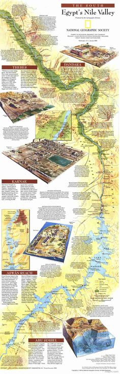 Egypt's Nile Valley Map