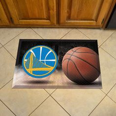 Golden state Warriors Doormat Scraper - Ball